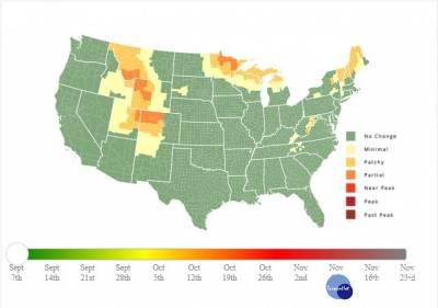 就是這張地圖 美國賞秋紅超精彩