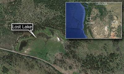 俄勒岡州將近幾千年的湖竟然因為一個神秘的洞開始吸乾它所有的湖水,流到哪裡去還是一個謎...