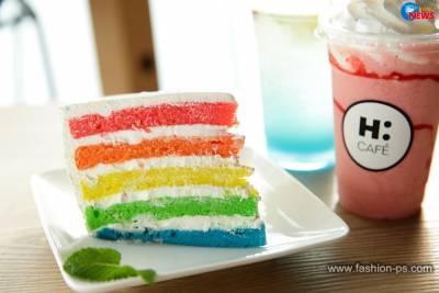 H:CAFÉ夢幻韓系午茶 彩虹蛋糕俏皮上桌