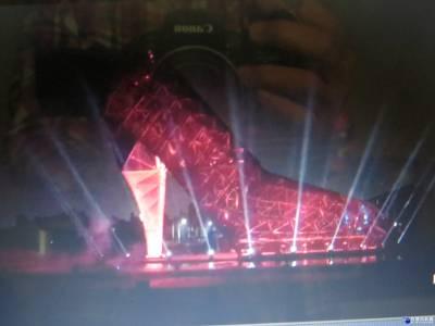 高跟鞋教堂夜間光雕秀 仿佛置身童話世界