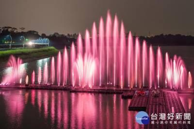結束漫長枯水期 6 24蘭潭風景區音樂噴泉恢復演出