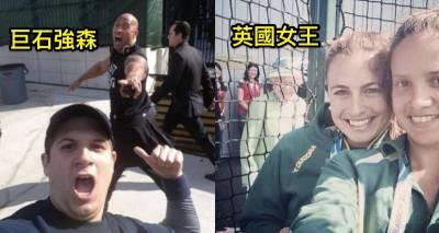 網友分享「他們在自拍時,被名人亂入」的超爆笑6張照片,看到 3 的時候,網路差點被灌爆!