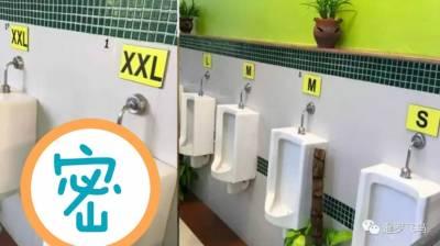 泰國奇葩廁所!噓噓還要分尺寸對號入座…情何以堪…