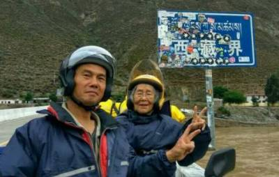 84歲老太太騎行5000公里去西藏,竟然還說掃興!