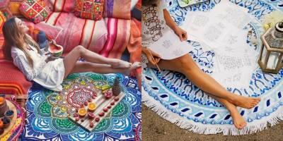 讓家裡和海灘都成為女孩的美照攝影棚!繽紛織紋 鮮豔配色的海灘巾今年夏天絕對必備