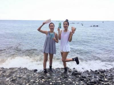 澎湖新玩法大公開!莎莎和巴鈺濕身直播...#全台唯一的海底郵筒必去