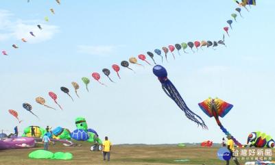 新竹國際風箏節 章魚 老虎 海綿寶寶飛上天