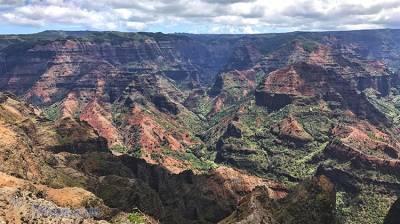 夏威夷可愛島的威美雅峽谷